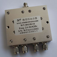 2.0-18.0GHz 4 Way Power Divider